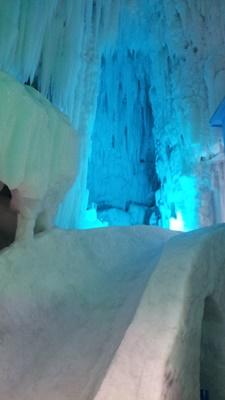 アイスパビリオン内の氷1