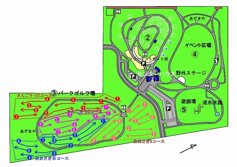 レイクサイドパークのとろマップ