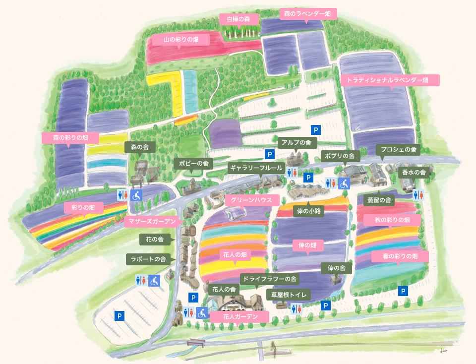 ファーム富田園内マップ