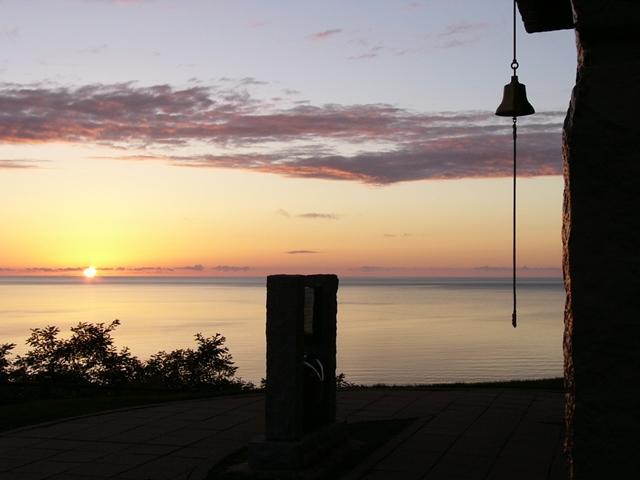 厚田展望台の夕日