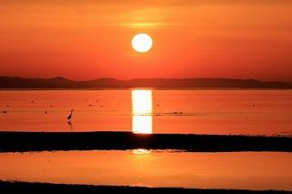 キムアネップ岬の夕日