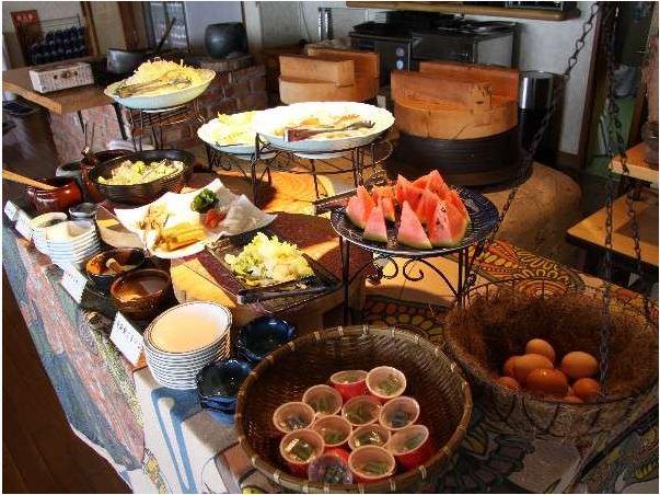 悠林館の朝食バイキング