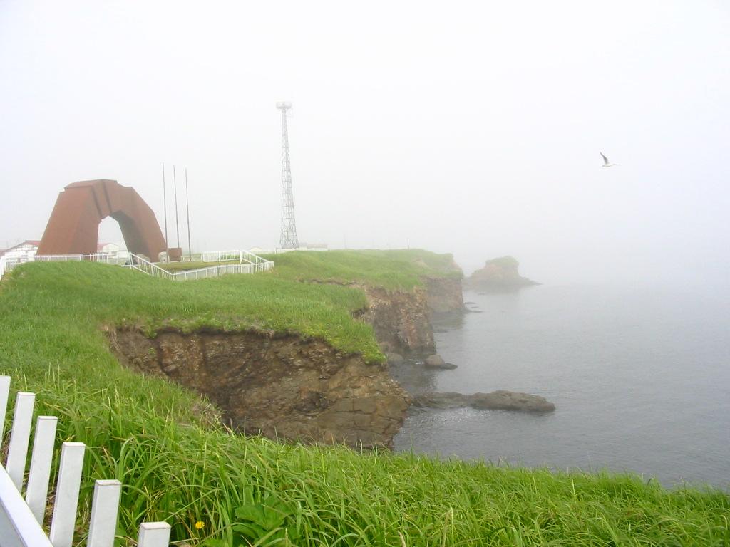 根室四島のかけ橋霧