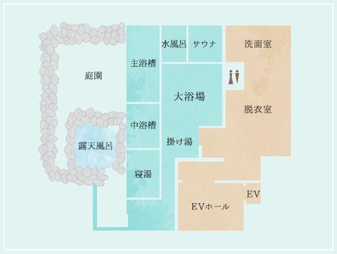 サロマ湖鶴雅リゾート浴場1F