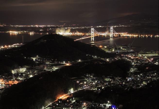 測量山から見る夜景