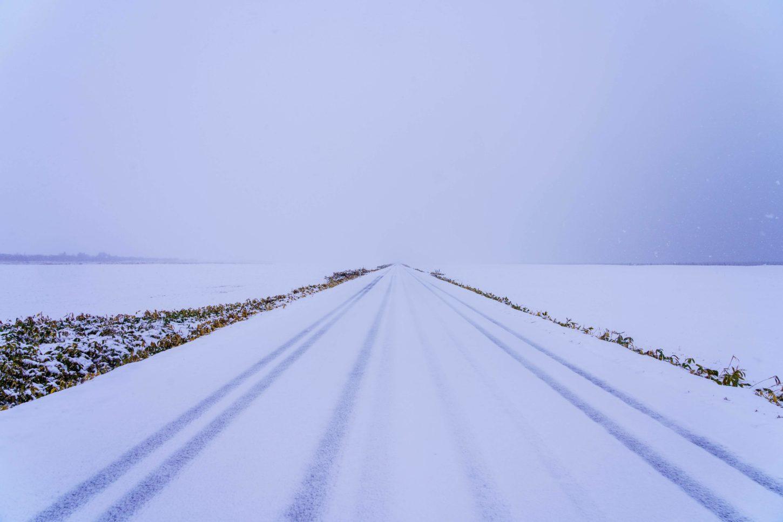 エサヌカ線の雪
